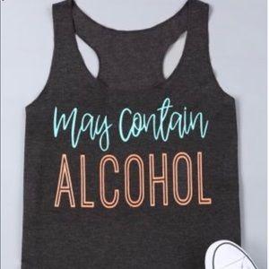 Tops - May Contain Alcohol Dark Grey Tank
